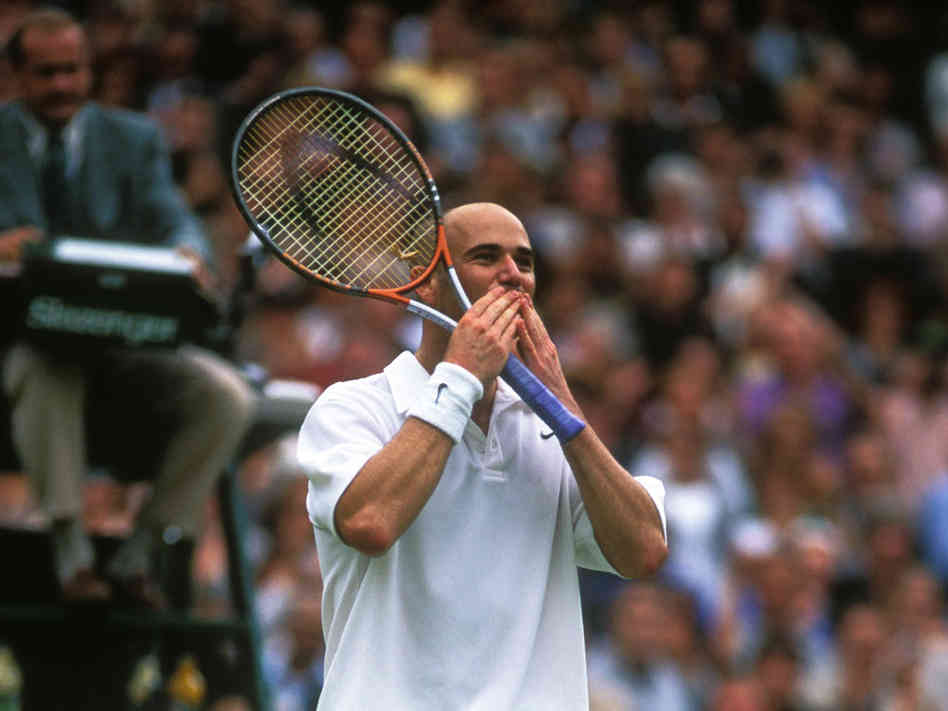 Andre Agassi and the Odd Energy around a Finish Line.