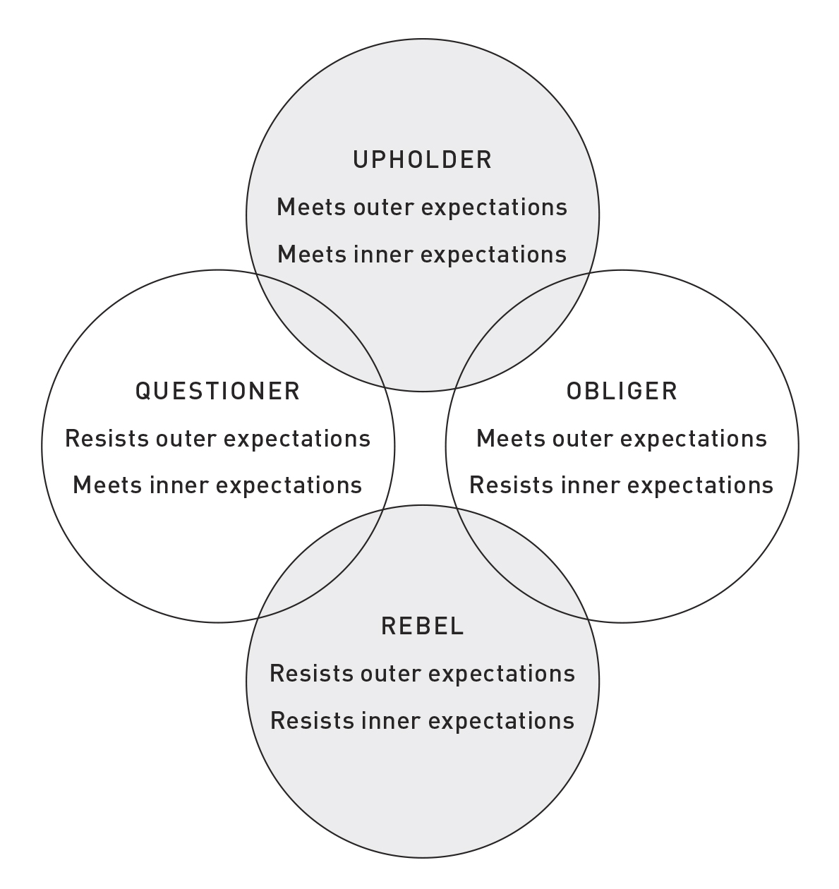 Did the Quiz Help You Decide If You're Upholder, Questioner, Obliger, Rebel? Some Thoughts