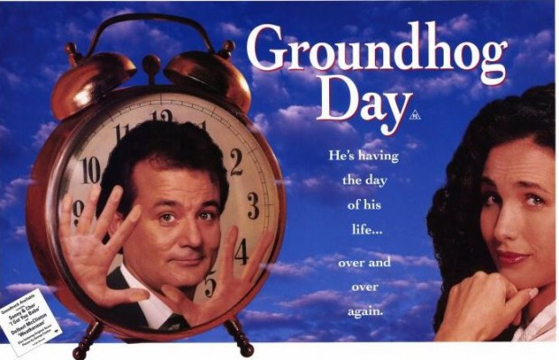 """A Happiness Lesson from Bill Murray in """"Groundhog Day."""""""
