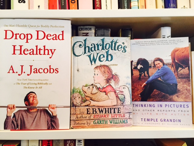Revealed! Books for June: a Talented Spider, an Unusual Perspective, and Health Hijinks.