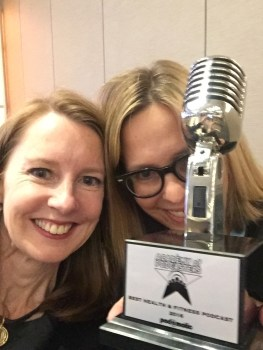 """Elizabeth and I after we won the """"Best Health & Fitness Podcast 2016"""" award."""