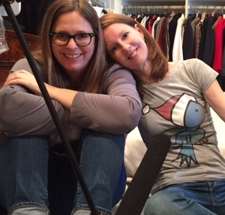 Elizabeth & I recorded an episode in our mother's closet in Kansas City.