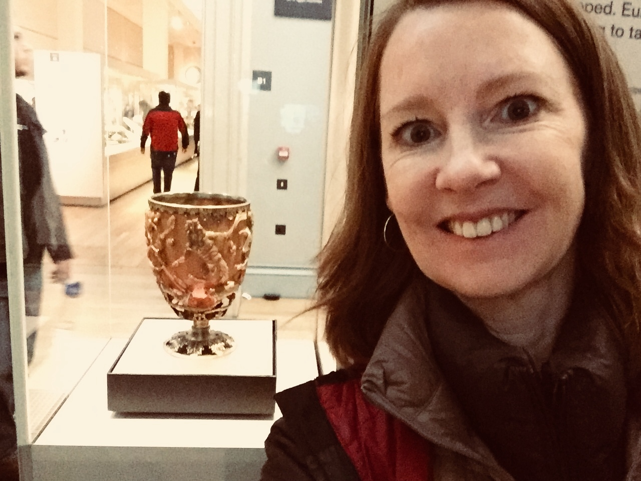 My London Color Adventure, Part I — the Lycurgus Cup in the British Museum.