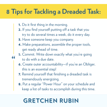 8 Tips for Tackling a Dreaded Task