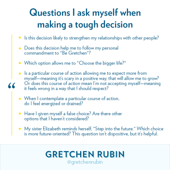 Questions I Ask When Making a Tough Decision