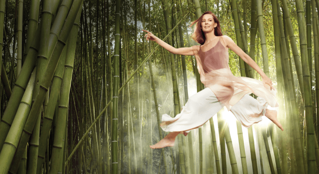 A Happiness Booster: Flying Through the Air in a Bamboo Grove (by the Magic of Photography)