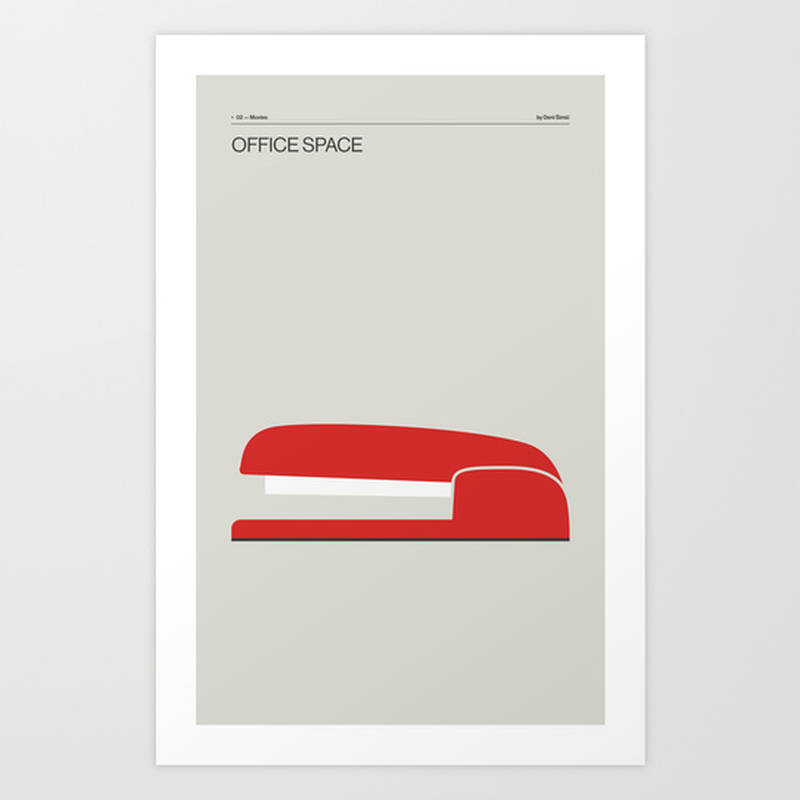 office space minimal movie poster