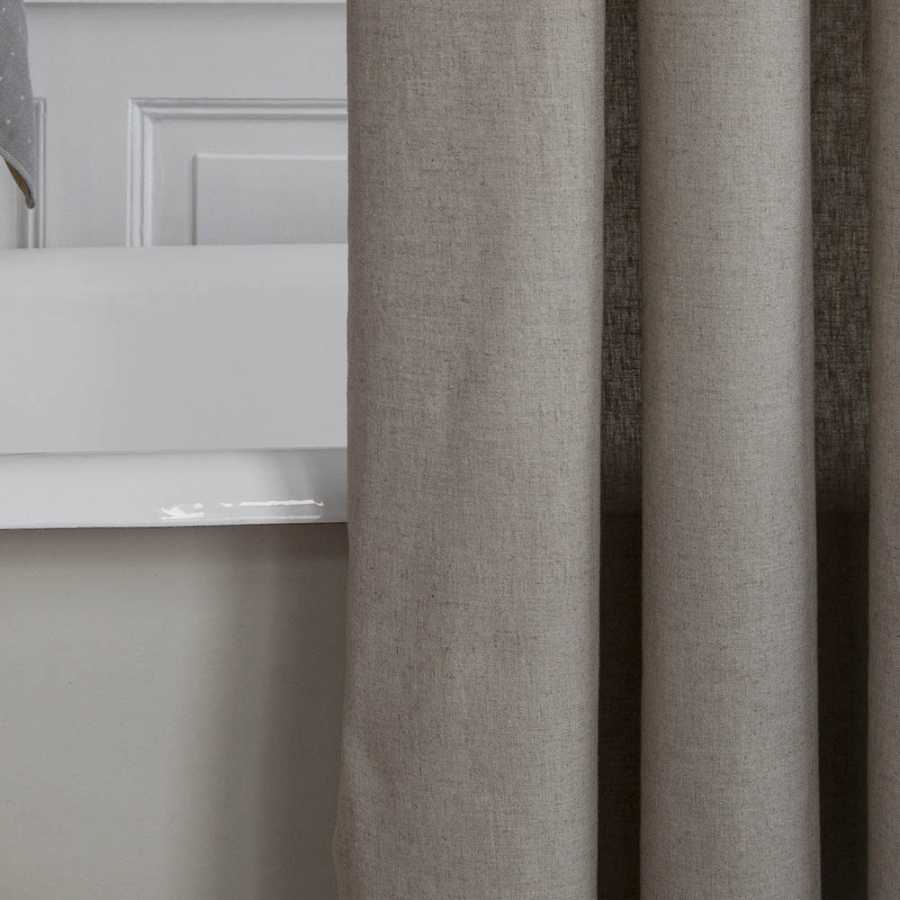 ferm living chambray shower curtain sand