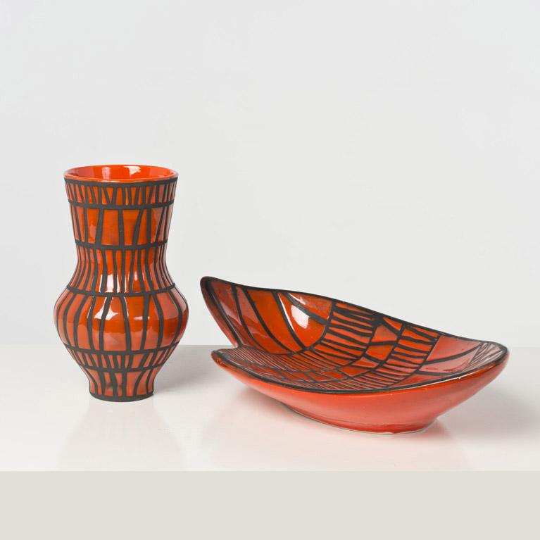roger capron 1922 2006 vase et coupe