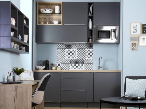 cuisine grise modeles de cuisines