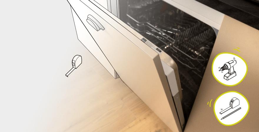 j installe un lave vaisselle avec porte