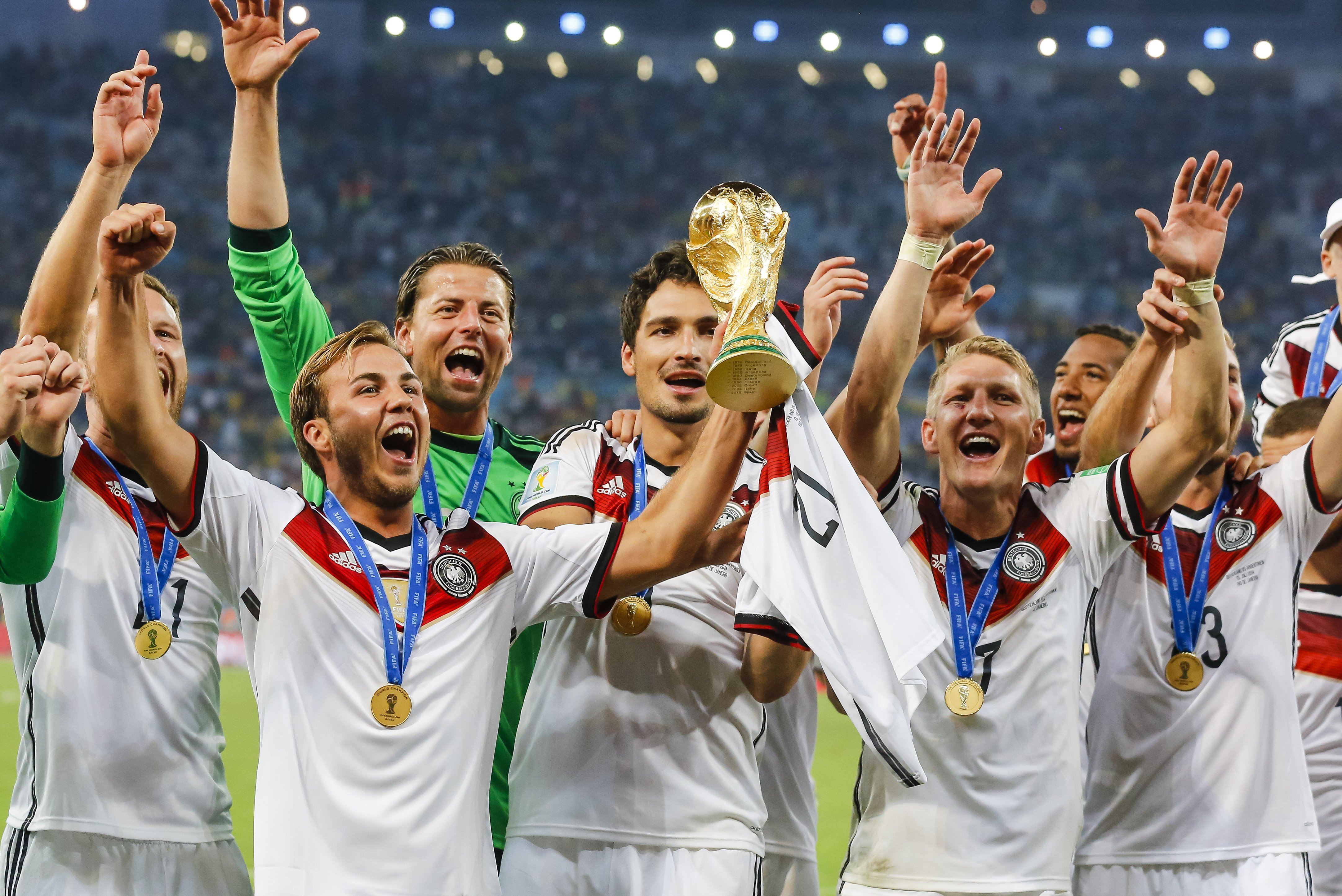 World Cup Football Soccer Mario Gotze Germany Beat