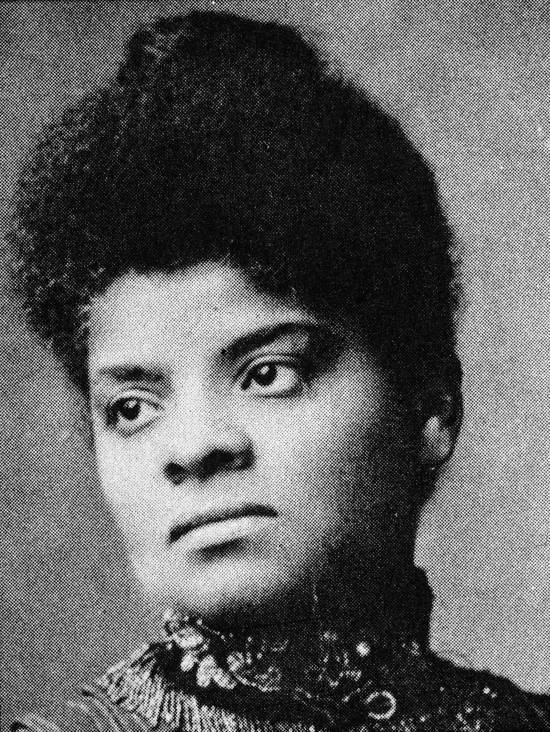 Portrait of American journalist, suffragist and Progressive activist Ida Wells Barnett (1862 - 1931), 1890s. African American history facts