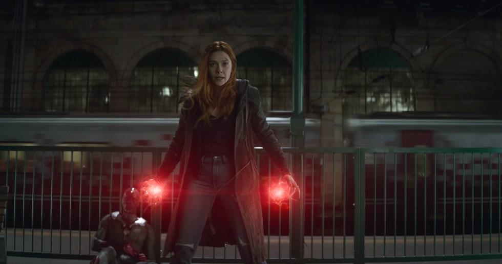 "Elizabeth Olsen as Scarlet Witch in ""Avengers: Infinity War"""