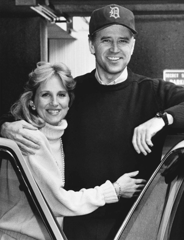 Jill and Joe after Joe was discharged from the Walter Reed Army Medical Center in Washington, where he was admitted after experiencing two aneurysms, February 1988.