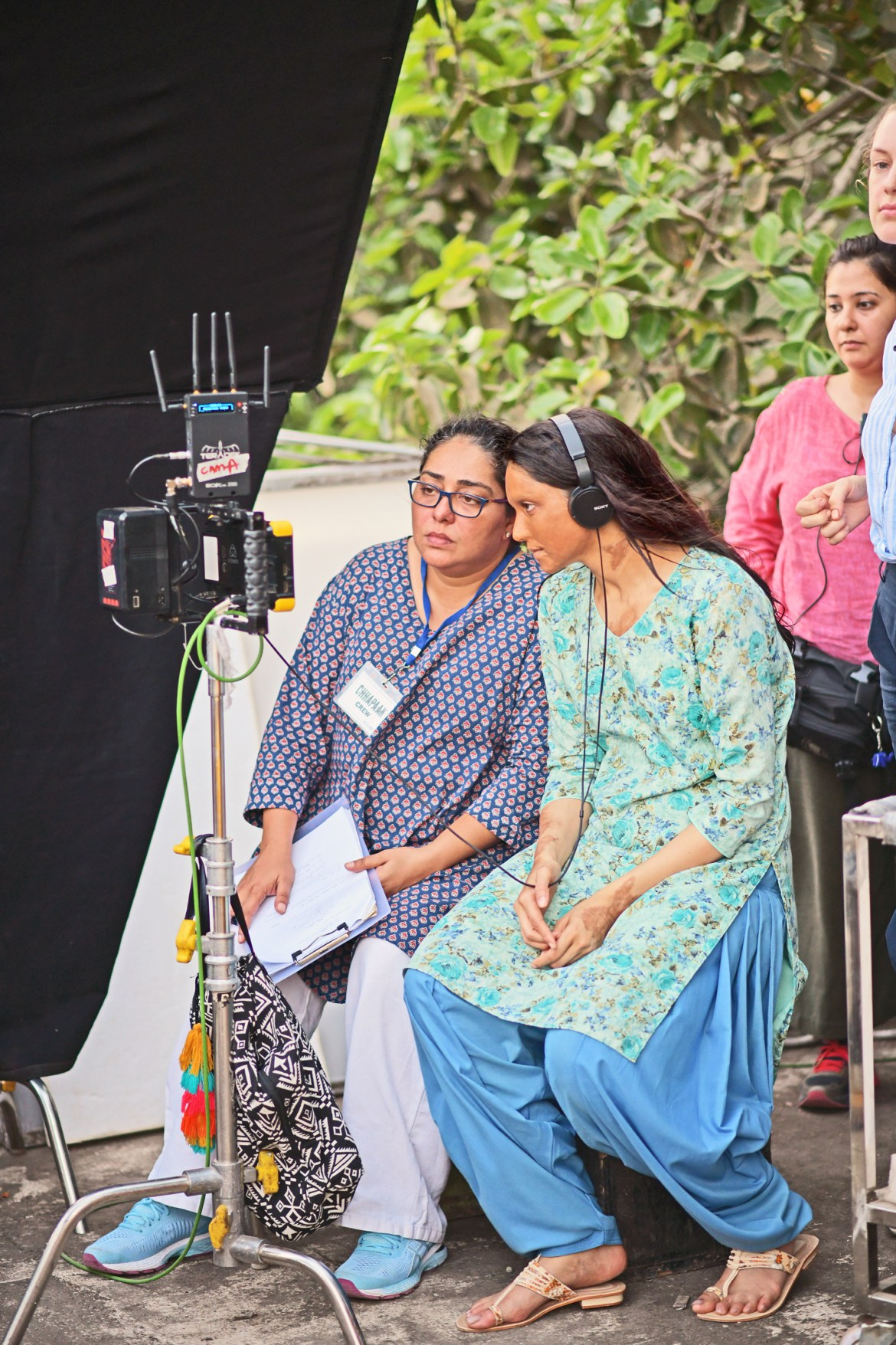 Director Meghna Gulzar and actor Deepika Padukone on the set of Chhapaak