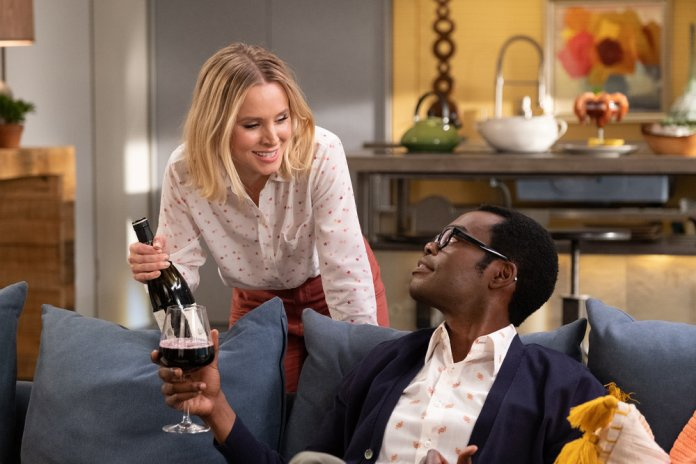 THE GOOD PLACE --  Whenever You're Ready  Episode 413/414 -- Pictured: (l-r) Kristen Bell as Eleanor, William Jackson Harper as Chidi