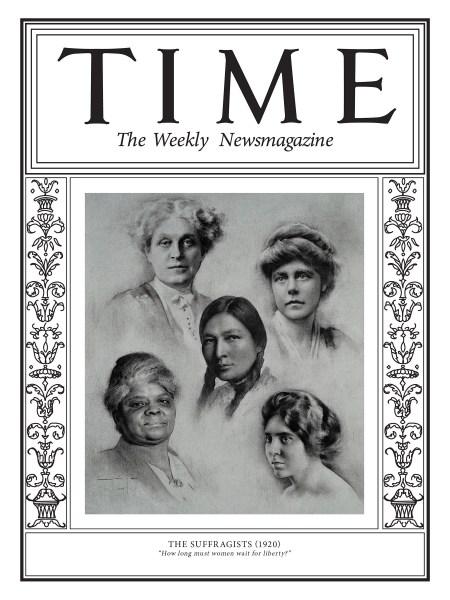 Mujeres sufragistas- portada de la revista Times