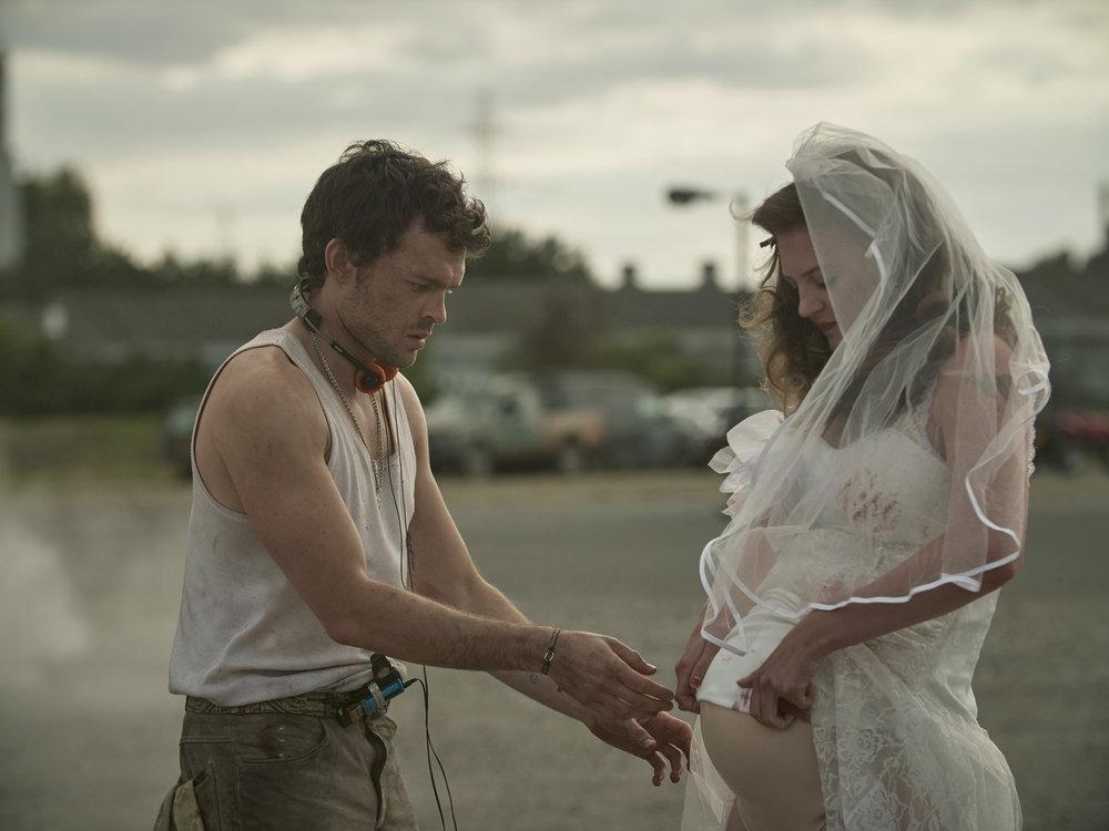 Alden Ehrenreich and Lara Peake in 'Brave New World'