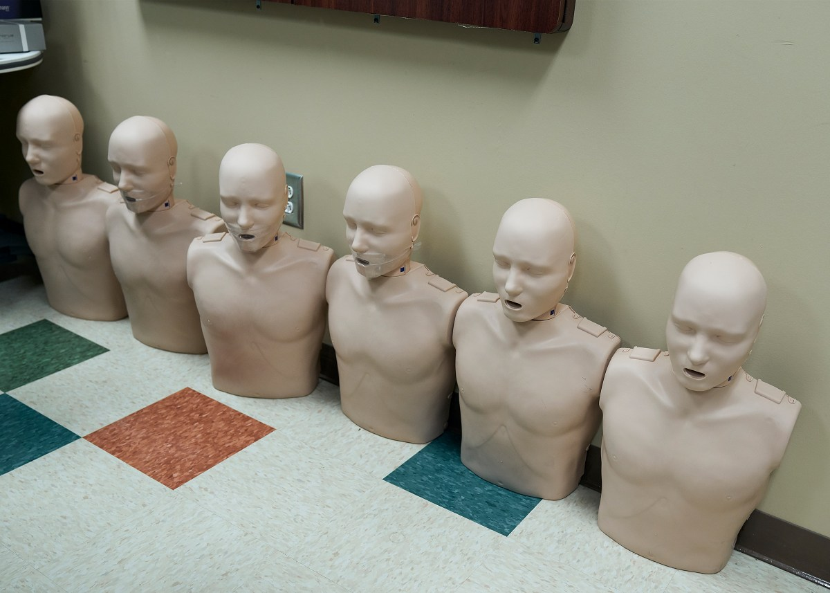 CPR and intubation skills equipment at Clinch Memorial Hospital.