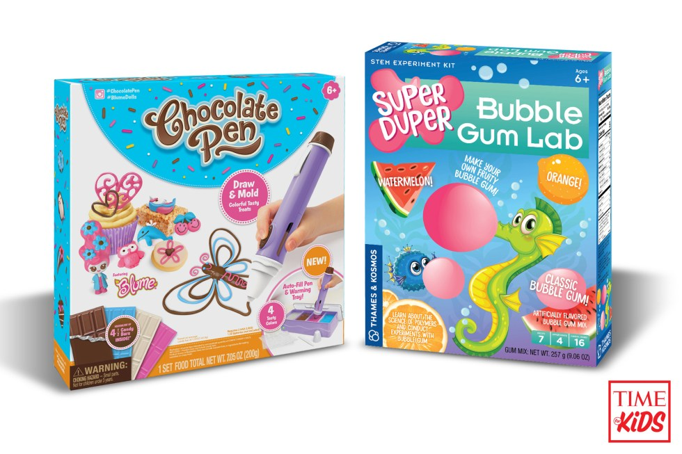 Picture of Chocolate Pen and Bubble Gum Lab for toy guide.