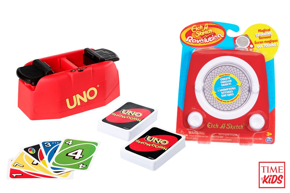 Picture of Uno Showdown and Etch A Sketch Revolution for toy guide.