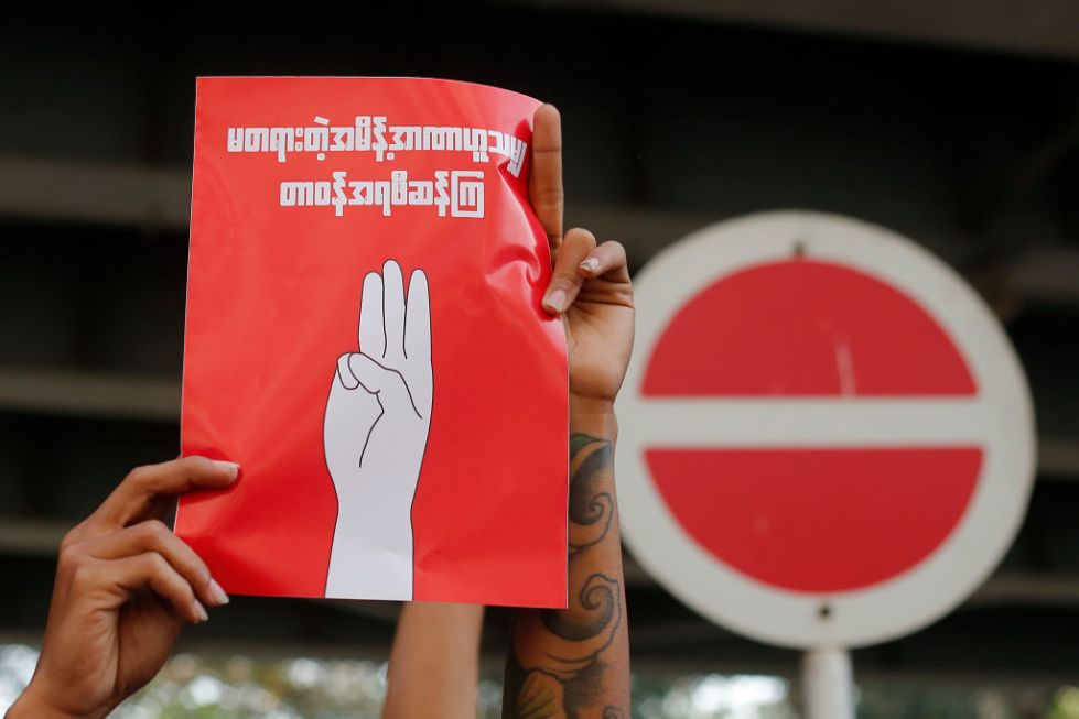 Thousands Of People Protest Against Military Coup In Myanmar For A Second Day