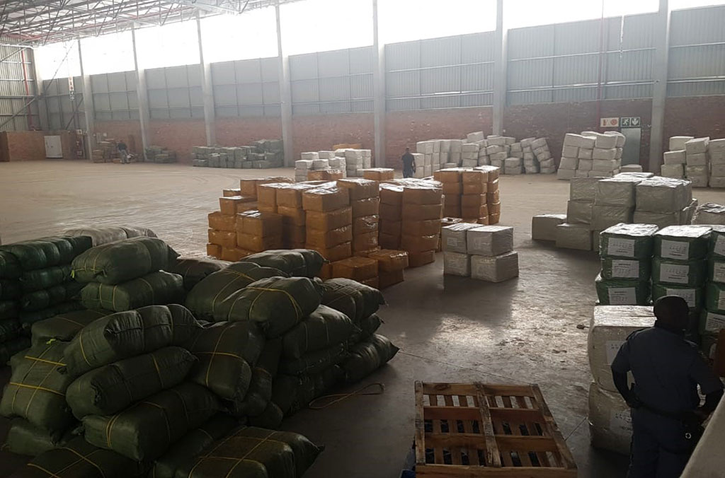 The warehouse near Johannesburg, South Africa, where police discovered a shipment of fake COVID-19 vaccines in November 2020.