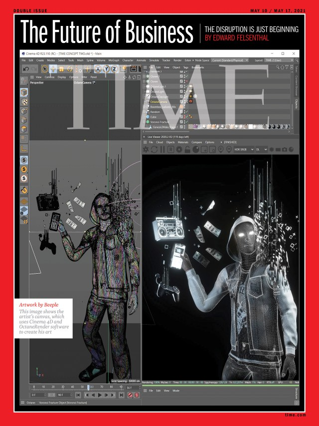 The Future of Business Time Magazine cover