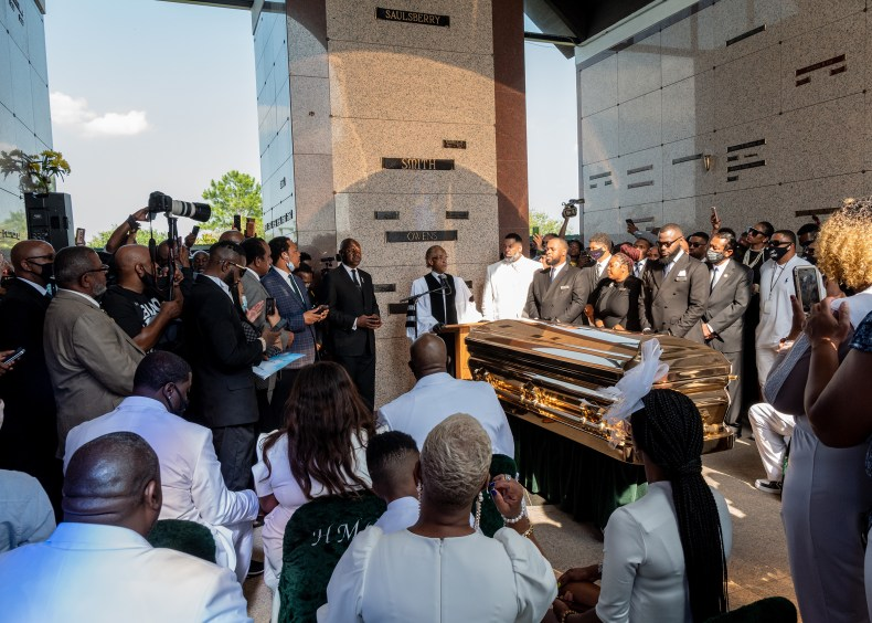 Rev. Al Sharpton speaks at the private funeral service for George Floyd on June 9, 2020.