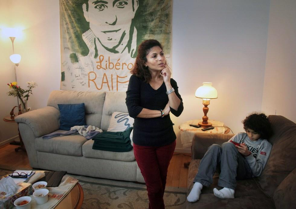 Ensaf Haidar wife of Saudi blogger Raif Badawi