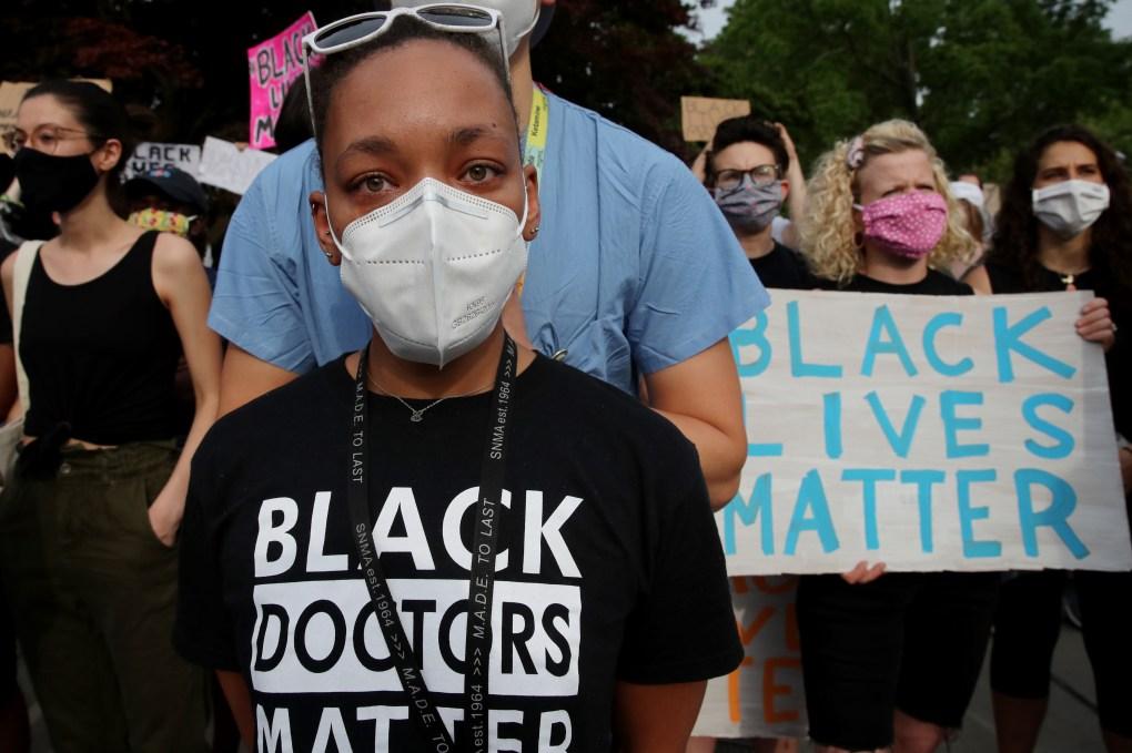Black Doctors Protest