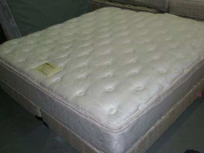 King Used Double Pillow Top Mattress Set Free Delivery 100
