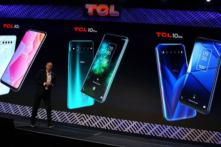 Chinese consumer electronics giant TCL offered a glimpse at three new smartphones. — Bloomberg