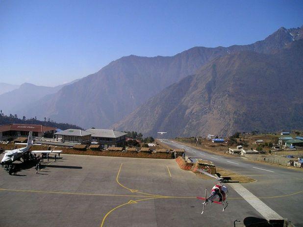 尼泊尔卢克拉的Tenzing Hillary机场。据报道,目前有30多名马来西亚人滞留在尼泊尔。 -Pixabay