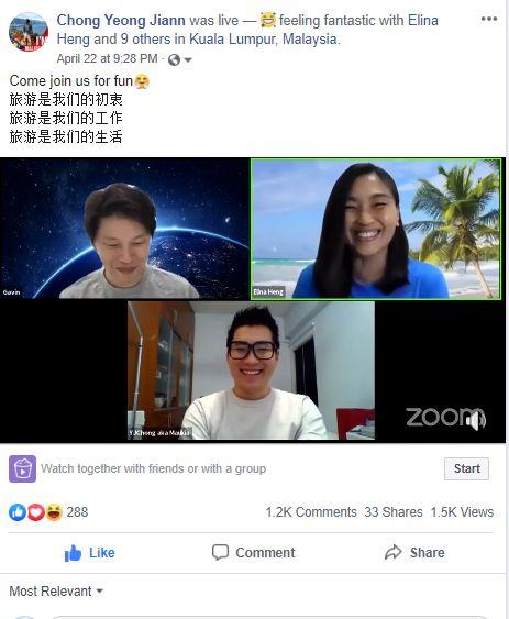 Chong说,旅行社可以利用这段时间在社交媒体上分享他们的旅行经历和提示。 —钟永杰