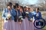 #njwedding, #njweddingphotography, #bloomfieldphotographer, #apicturesquememoryphotography, #oaksidemansionwedding, #oaksidebloomfieldculturalcenter, #weddingphotos, #bridesmaids, #denimjacket