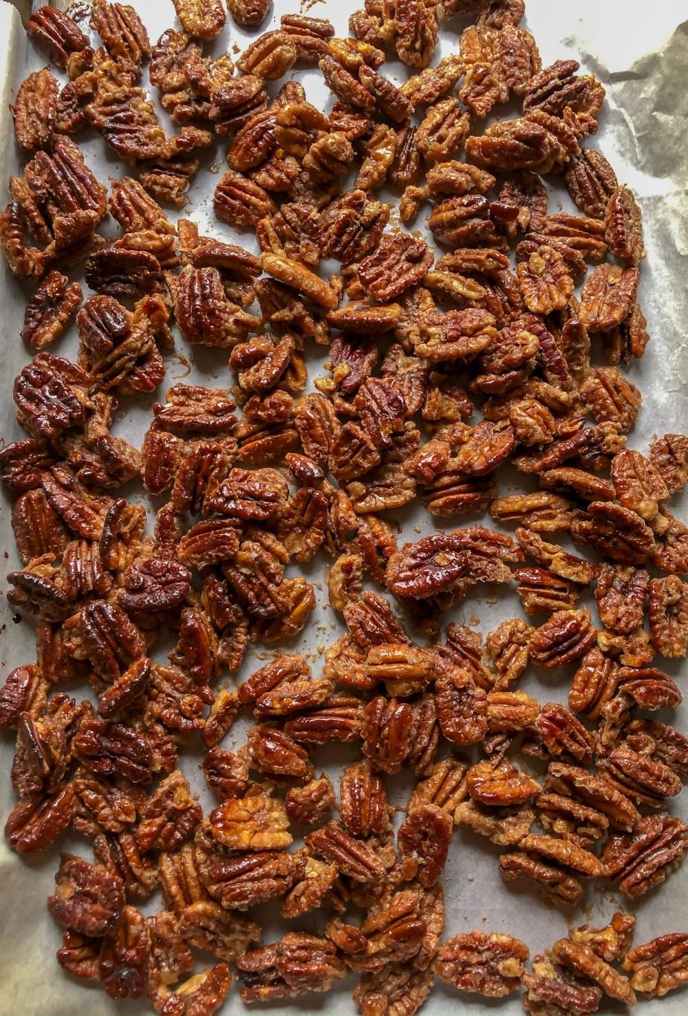 caramelized pecans