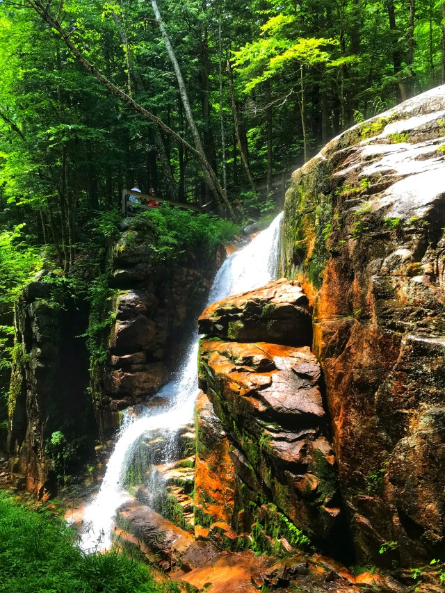 Waterfall at Flume Gorge