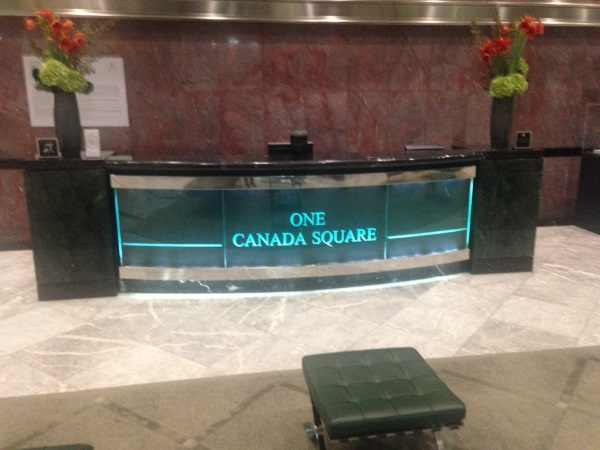 One Canada Square - Front desk
