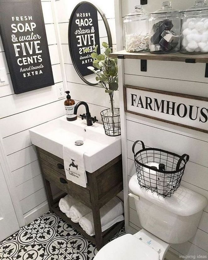 +21 Instant Solutions for Modern Farmhouse Bathroom Small ...