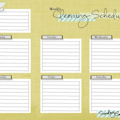 Cleaning Schedule Printable Freebie
