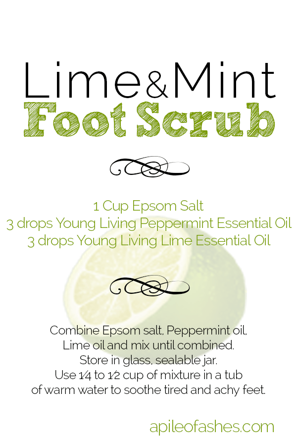 Lime & Mint Foot Scrub + Giveaway | apileofashes.com
