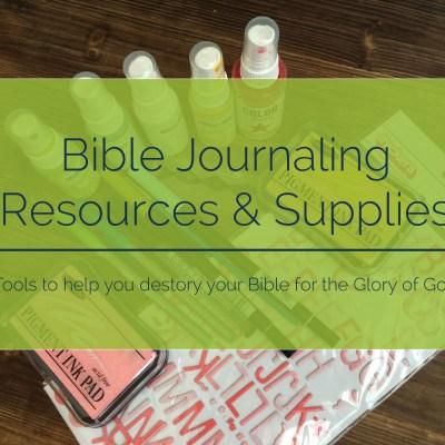 Journaling Bible Resources & Supplies