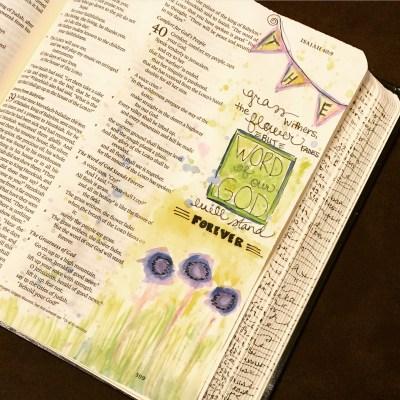 Journaling Bible | Grass Withers apileofashes.com