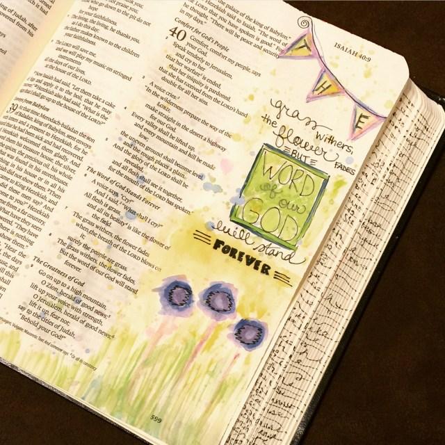 Journaling Bible   Grass Withers apileofashes.com
