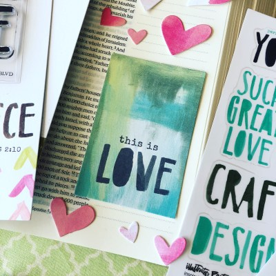 This Is LOVE | Illustrated Faith Bible Journaling Kit Feb 2018