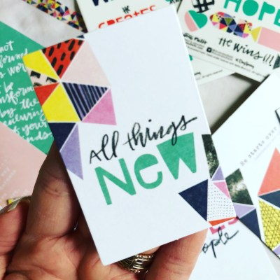 All Things NEW   Illustrated Faith Bible Journaling Kit March 2018