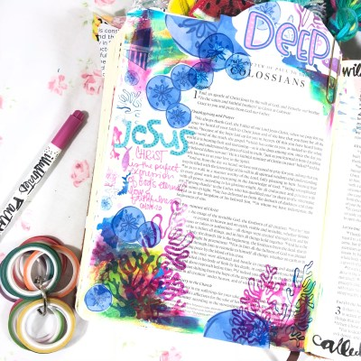 Deep Love | Bible Journaling Page