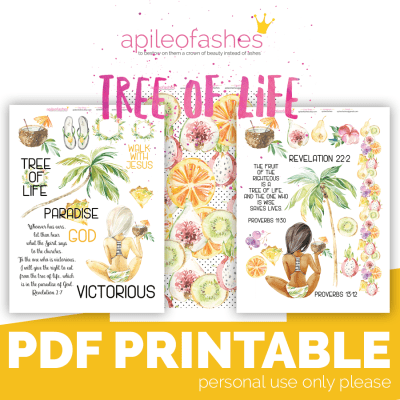 bible journaling digital download tree of life